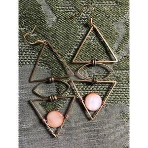Bronze Opal Earrings